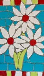 Mosaic daisies wall hanging