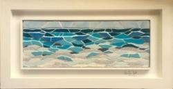 A framed mosaic sea