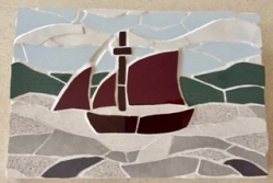 Mosaic Cornish boat