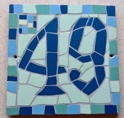 Bespoke mosaic house numbers