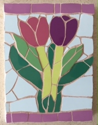 Two tulips mosaic