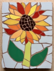 Mosaic sunflower wall hanging