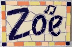 Name mosaics - to order