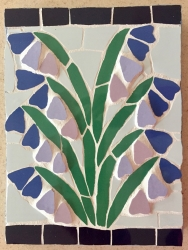 Mosaic bluebells wall hanging