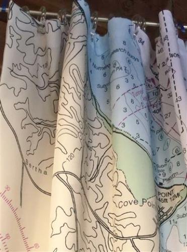 Solomons Chart Shower Curtain