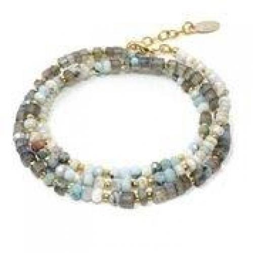 Mickey Lynn Jewelry - Labradorite and Larimar Wrap Bracelet