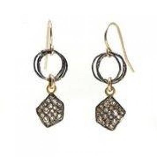 Mickey Lynn Jewelry - Pavé and Gunmetal Earring