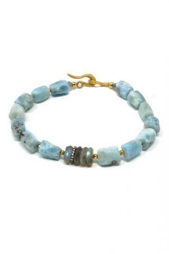 Mickey Lynn Jewelry - Larimar and Labradorite Bracelet