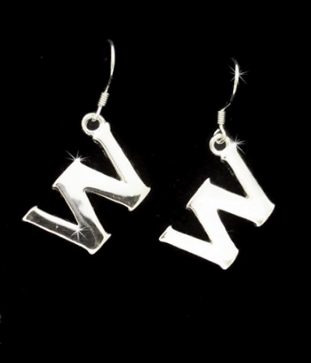 Silver W earrings