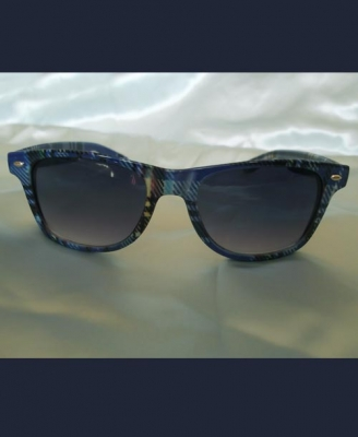 Blue Tartan Wayfarer Sunglasses