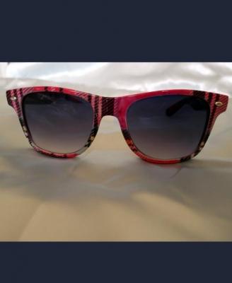 Pink Tartan Wayfarer Sunglasses