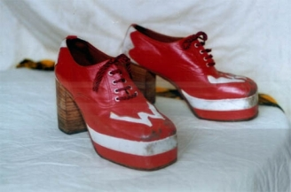 Bay City Roller Woody's Original 1970's 'W' Shoes..very rare item !!