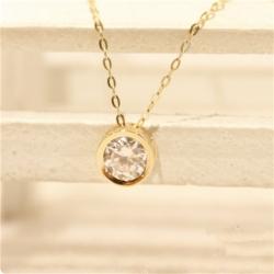 K14ゴールド 一粒ダイヤモンドネックレス 人気 ネックレス 女性 プレゼント 大学生 彼女 ネックレス