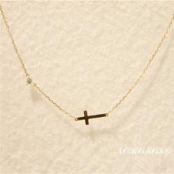 クロス ネックレス 人気 K14ゴールド 十字架 ペンダント チェーン ゴールド レディース プレゼント かわいい 20代 30代