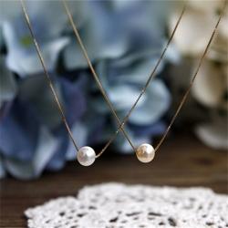 一粒パールネックレス 女性 誕生日 プレゼント 人気 アコヤ真珠 ネックレス k18 華奢