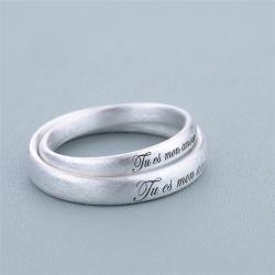 刻印できるペアリング 人気 ペア リング 指輪 シルバー925 お名前 メッセージ マリッジリング 結婚指輪 2本セット ギフトラッピング済み