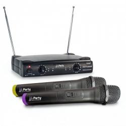Micro sem fio 2 de mao + Receptor Party 200UHF - UHF