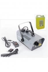Maquina de Fumo Party FOG1200LED - 1.200W - DMX - com 6 Leds de 3W - comando a distancia + 5L Liquido